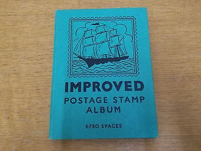 Stanley Gibbons Improved Postage Stamp Album 1940- 70s. Great Retro 70's stamps!