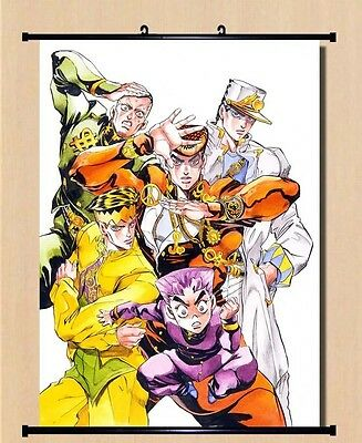 "8""*12""Home Decor Japanese JoJo's Bizarre Adventure Anime Wall Poster Scroll J14"