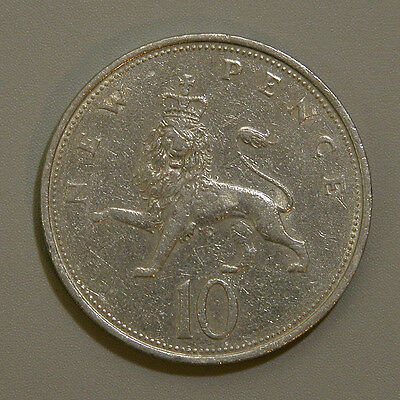 1968 Great Britain 10 Pence Coin UK England
