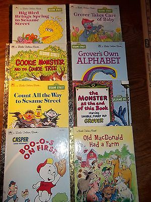 8 Vintage Little Golden Books, Boo-o-s on First, Old MacDonald Had a Farm...