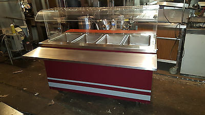 Seco 4 Pan Well Electric Steam Table Buffet Portable Serving Line Hot Food