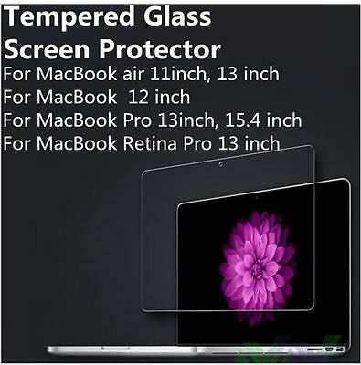 Tempered Glass Screen Protector for MacBook Pro Air 11 12 13 Retina 15.4 inch To