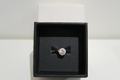 TI SENTO MILANO Rhodium Plated Sterling Silver Ring with Zirconia