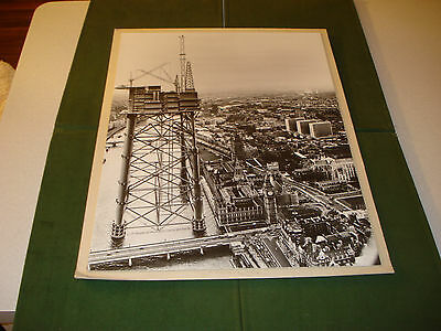 Vintage 1974 High Quality British Petroleum Magnus Oil Platform 16X20  Photo,uk