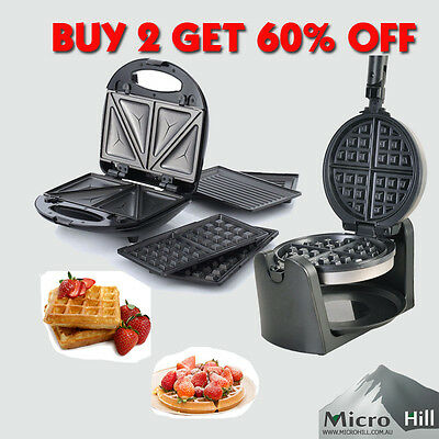 Waffle Maker Snack Maker Electrical Sandwich Waffle Doughnut Grill Non Stick