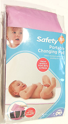Safety 1st Portable Baby Changing Pad with Water Resistant Surface (Pink), New