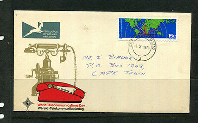 South Africa 1973 Fdc World Telecommunications Day First Day Stamp Cover