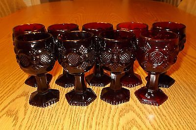 AVON 1876 Cape Cod Ruby Red Small Wine Goblet