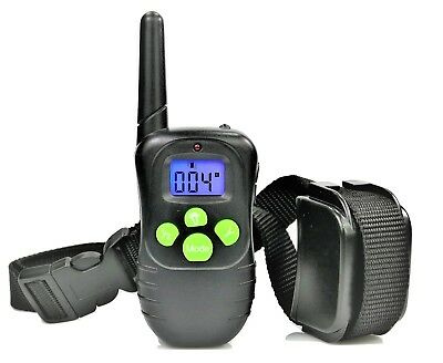 Rechargeable LCD 100LV Electric Shock Vibrate Remote Dog Training Control Collar