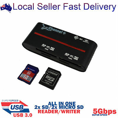 USB 3.0 to All in One Multi Memory External Card Reader SD MicroSD CF M2 MMC MSD