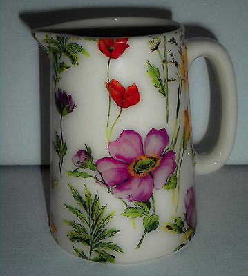 BN Boxed Vintage Floral Style 1/2  Pint Cream Pottery Jug, Small Milk Jug, Gift
