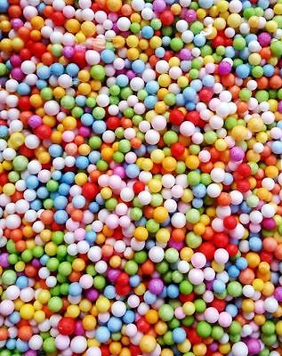 NEW Assorted Colors Polystyrene Styrofoam Filler Foam Beads Balls Crafts DIY Toy