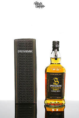 Springbank 2001 8 Years Old Vintage Campbeltown Single Malt Scotch Whisky