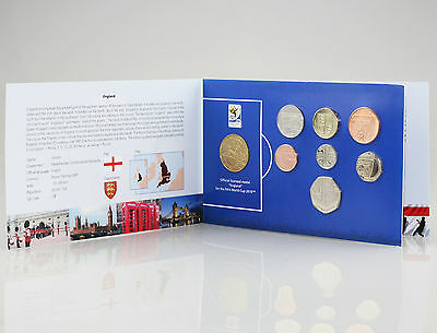 2008 England 8 Coin Set with Official Licensed Medal for 2010 World Cup (FZ76)