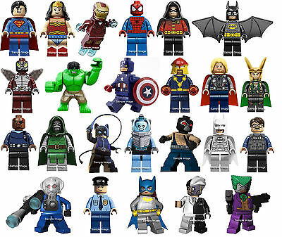 "LEGO SUPERHEROES wall stickers (choice of 25 images in 4 sizes) ""DISCOUNTS """