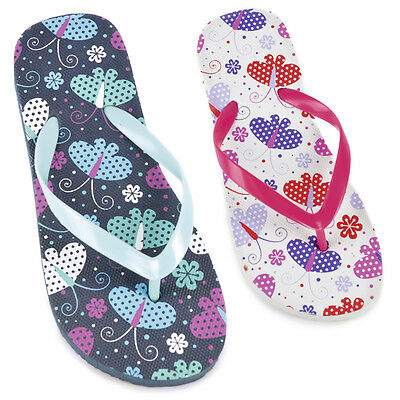 Girls Butterfly Print Flip Flop