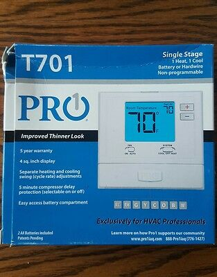 new pro1 t710 non-programmable electronic thermostat