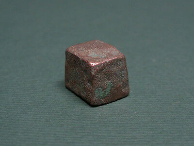 Ancient Bronze Weight Inscribed With A Letter Phoenician 1000-700 Bc