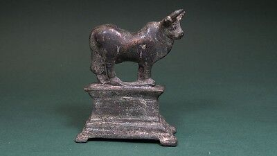 Ancient Bronze Apis Bull Figure Egyptian Late Period 716-30 Bc
