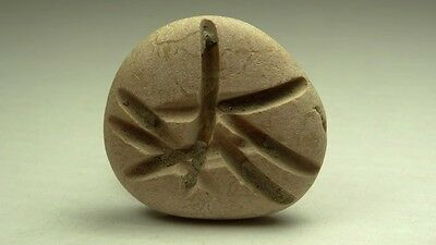 ANCIENT ENGRAVED PEBBLE WITH INSCRIPTION RARE PHOENICIAN 4th CENTURY BC