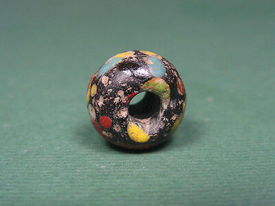 Ancient Mosaic Bead Multi Color Glass Egyptian, Late Period 716-30 Bc
