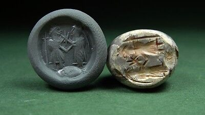ANCIENT BEAD RITUAL CEREMONIAL IMAGE  AGATE  SASSANIAN 4th CENTURY AD