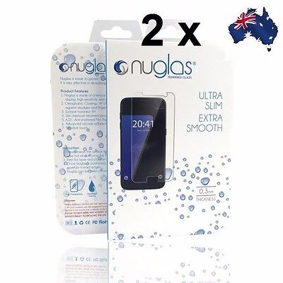 2x GENUINE NUGLAS Tempered Glass Screen Protector Guard For Samsung Galaxy S6