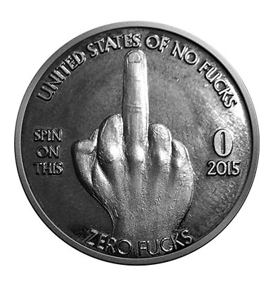 ZFG Inc. Zero F's Prank Given Giftable Novelty Quarter Coin The Middle Finger