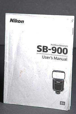 Nikon SB-900 Speedlight Camera Flash Instruction Book / Manual / User Guide