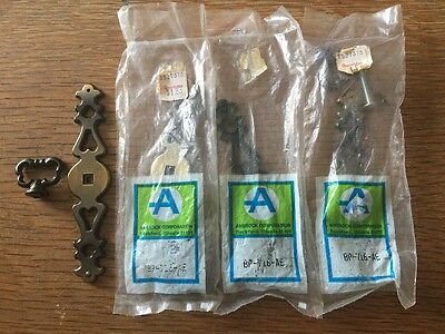 """Lot Of 4 Vintage New Burnished Brass Drawer Handle Pull Amerock 5-1/4"""" Tall NOS"""