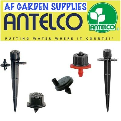 Antelco Micro Irrigation Drippers Shrubbler Adjustable 4mm Barb Garden Watering