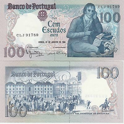 Portugal 100 Escudos Banknote,31.1 1984 Uncirculated Condition Cat#178-C