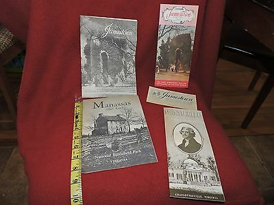 Vintage Old Travel  Brochures From Virginia--Lot Of 5 Pieces