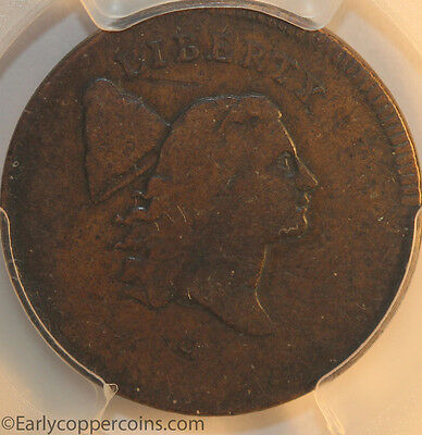 1795 C6a R2 Liberty Cap Half Cent PCGS VG10 Double Struck Mint Error