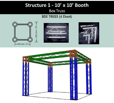 10x10 Square Box Truss Display Trade Show Convention Booth
