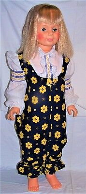 "IDEAL Playpal Patti Doll Vintage Toy Corp 35"" Life Size G 35 H 346 Platinum Hair"