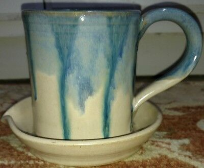 Lantern Hill Pottery Coffee Mug flower pot Planter Seagrove NC Drip Glaze