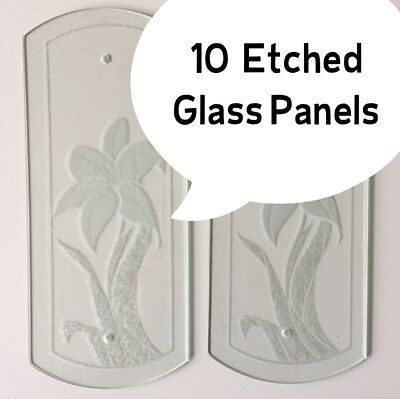 10  Etched Glass Panels