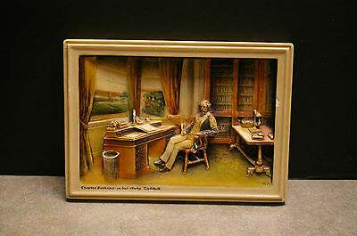Arthur Osborne 'ivorex' 'charles Dickens In His Study - Gadshill' Wall Plaque
