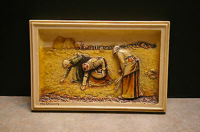 Arthur Osborne 'ivorex' 'the Gleaners' Wall Plaque