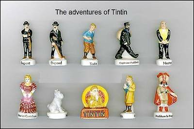 Tretired Miniature Figurines, The Adventures Of Tintin Collection Set Of 10 Rare