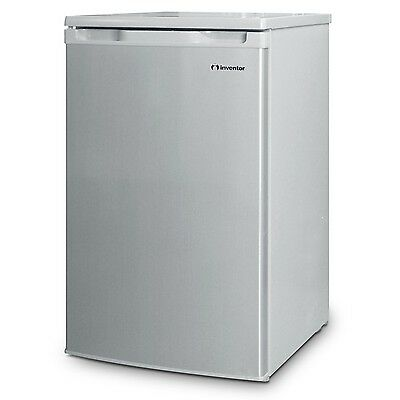 Inventor A++ 98L Under Counter Small Fridge 4*Freezer Silver