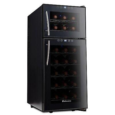 Kalamera KR-21A3JPE Streamline Dual Zone Wine Coolerwine refrigerator for up ...