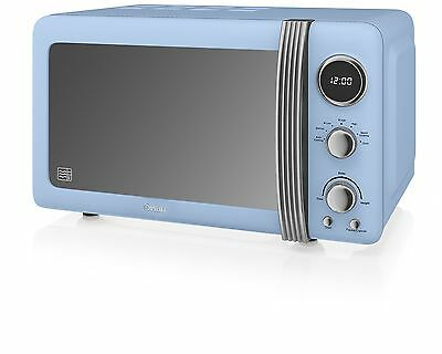 Swan SM22030BLN Retro Digital Microwave 800 W Blue