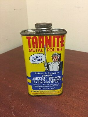 Vintage Tarnite Metal Polish for Brass Copper Stainless Chrome 9 oz Looks Full