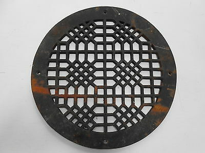 Antique Cast Iron Round Top Dome Wall Register Old Vintage
