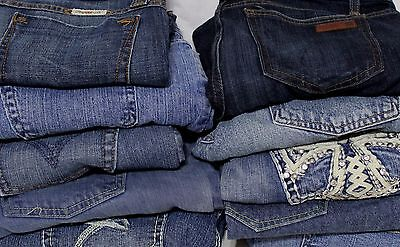 Lot of 10 Denim JEANS Womens Wholesale Clothing Resale Thrift Lot 900