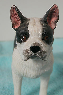 Boston Terrier Dog Christmas Tree Ornament or Figurine Statue ~ Standing