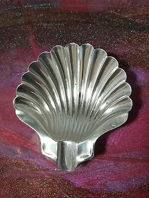 Napier Sterling Silver Clam Shell Ashtray Coin Dish