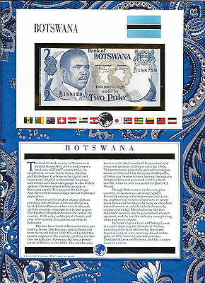E Banknotes of All Nations Botswana 1982 2 Pula P7d sign. 6a UNC Prefix B/27